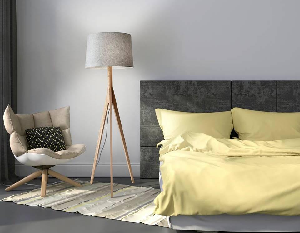 Lampe sur pied - chambre à coucher