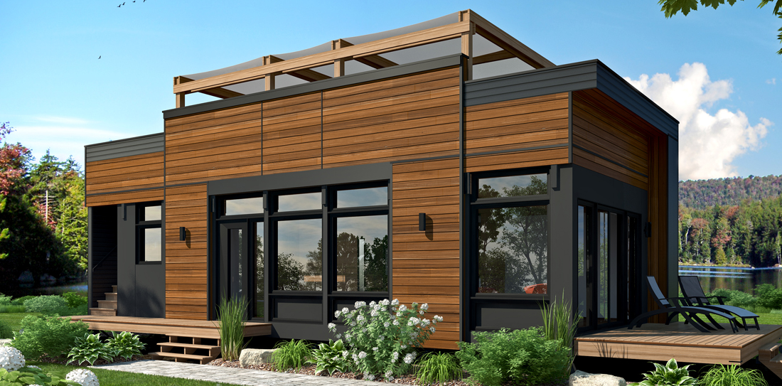 air maisons laprise innove en format mini expo habitat qu bec 2017. Black Bedroom Furniture Sets. Home Design Ideas